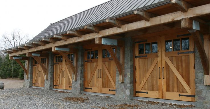 A Large Garage Sports Carriage House Doors With