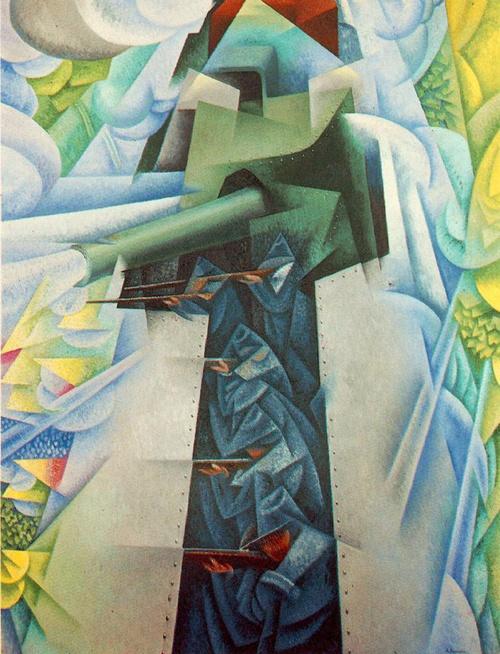 Gino Severini: Armored Train, 1915  #futurism