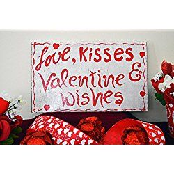 Valentines Day Sign, Reclaimed Wood Sign, Valentines Wood Sign, Valentine Wishes, Ready to Ship!