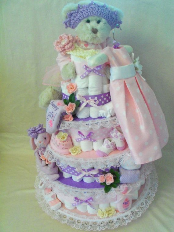 best diaper cake videos images on   baby shower, Baby shower invitation