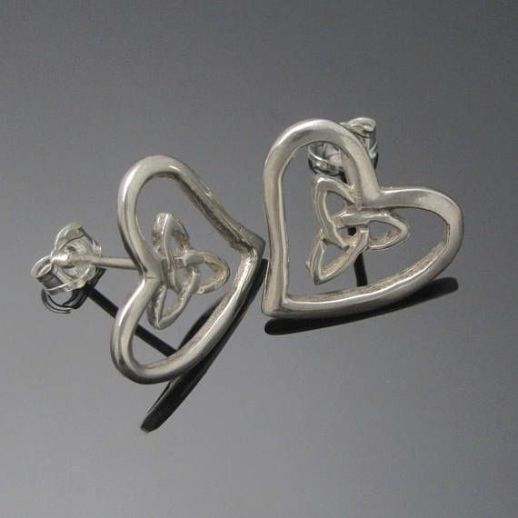 Check out this item in my Etsy shop https://www.etsy.com/ie/listing/258856402/trinity-knot-earrings-heart-shape