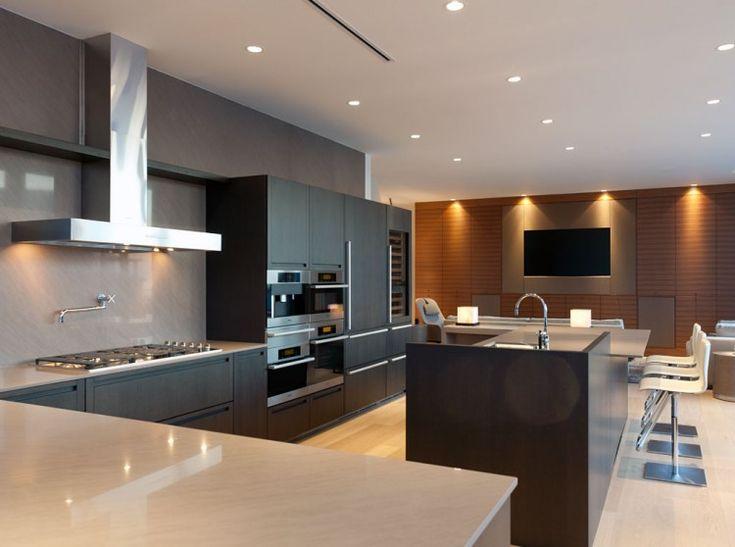 kücheninsel holzoptik modernes küchen design pendini