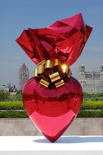 art & exhibits & installations - Sacred Heart - Jeff Koons...LOVE LOVE LOVE LOVE BELLA DONNA