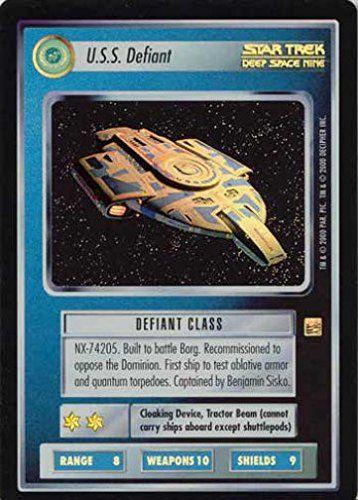 STAR TREK CCG 1E REF REFLECTIONS FOIL USS DEFIANT 92UR @ niftywarehouse.com #NiftyWarehouse #StarTrek #Trekkie #Geek #Nerd #Products