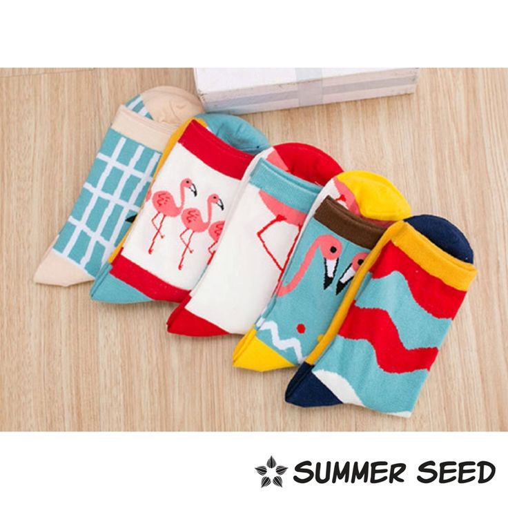 We are stacked with bright colors and funky socks!  At Summer Seed, we specialized in cotton bamboo socks for its comfort, absorbent and breathable properties.  Visit us at www.summerseed.com
