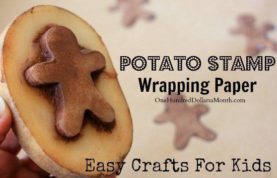 Gingerbread man potato print
