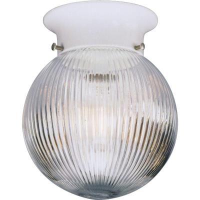 Progress Lighting 1-Light White Flushmount - P3599-30 - The Home Depot