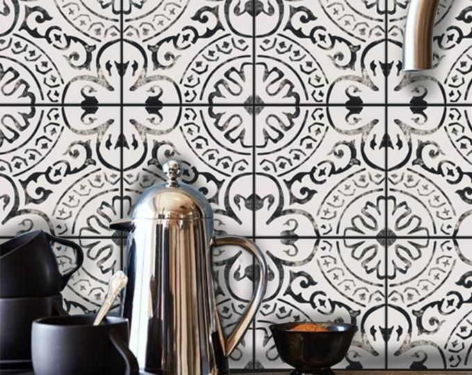 Bleucoin No 21 Mexican Talavera Tile Wall Stair Floor Vinyl Etsy Flooring For Stairs Flooring Wall Tiles