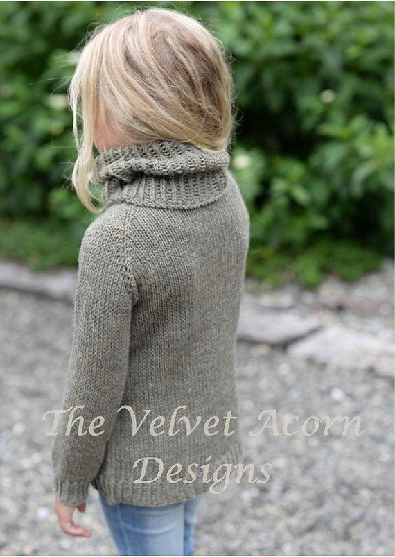 KNITTING PATTERN-The Harbor Pullover 12/18m 2 3 4/5 6/7
