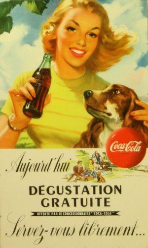 Coca Cola, 1950s - original vintage poster listed on AntikBar.co.uk