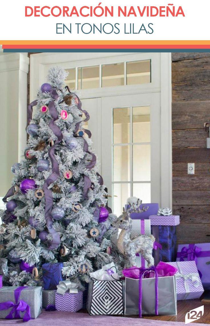 Este es un hermoso color  que evoca elegancia, celebración, serenidad y espera #lila #color #navidad #christmas #decoración