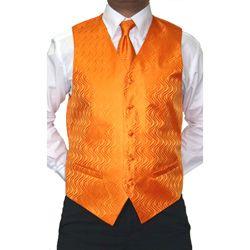 Ferrecci Men's Four-piece Orange Microfiber Vest Set | Overstock.com Shopping - The Best Deals on Formal Vests