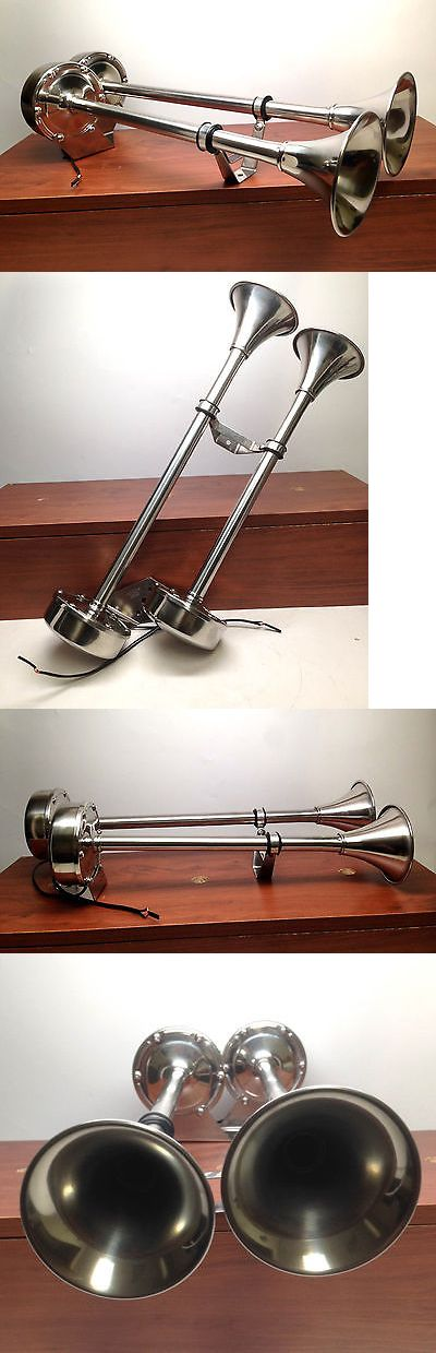 boat parts: Marine Boat Stainless Steel Dual Trumpet Horn 12V Heavy Duty -> BUY IT NOW ONLY: $74.99 on eBay!