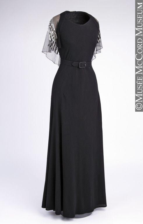 Dress and cape (front), attribué à Jeanne Lanvin: ca. 1934.