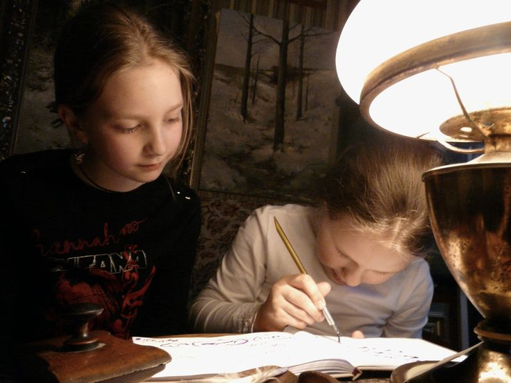 The Children, letter and the lamp