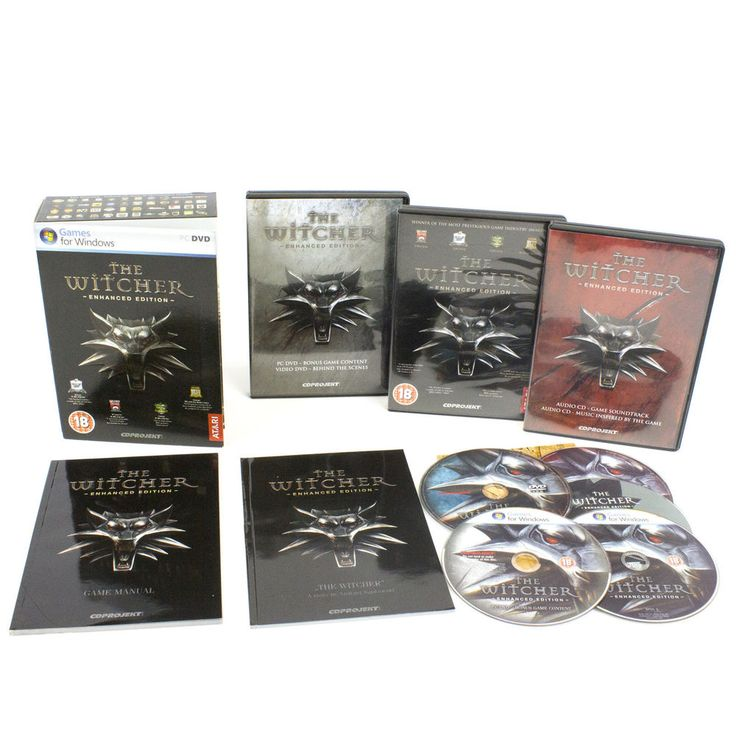 The Witcher: Enhanced Edition for PC DVD-ROM by CD Projekt RED, 2007, VGC, CIB
