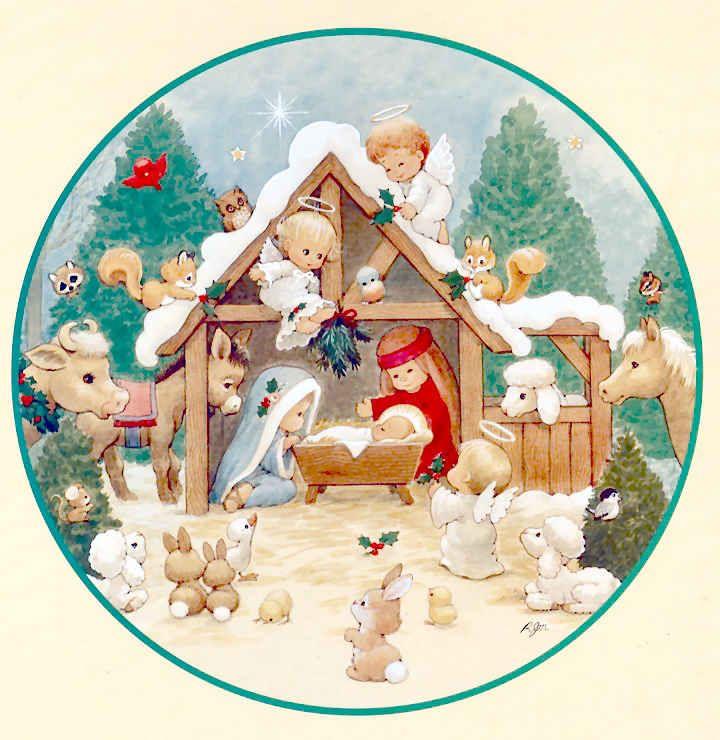 Pesebres   Belén   Nacimiento de Jesús   cute imágenes para bajar   tamaño grande   art collection Art Illustration