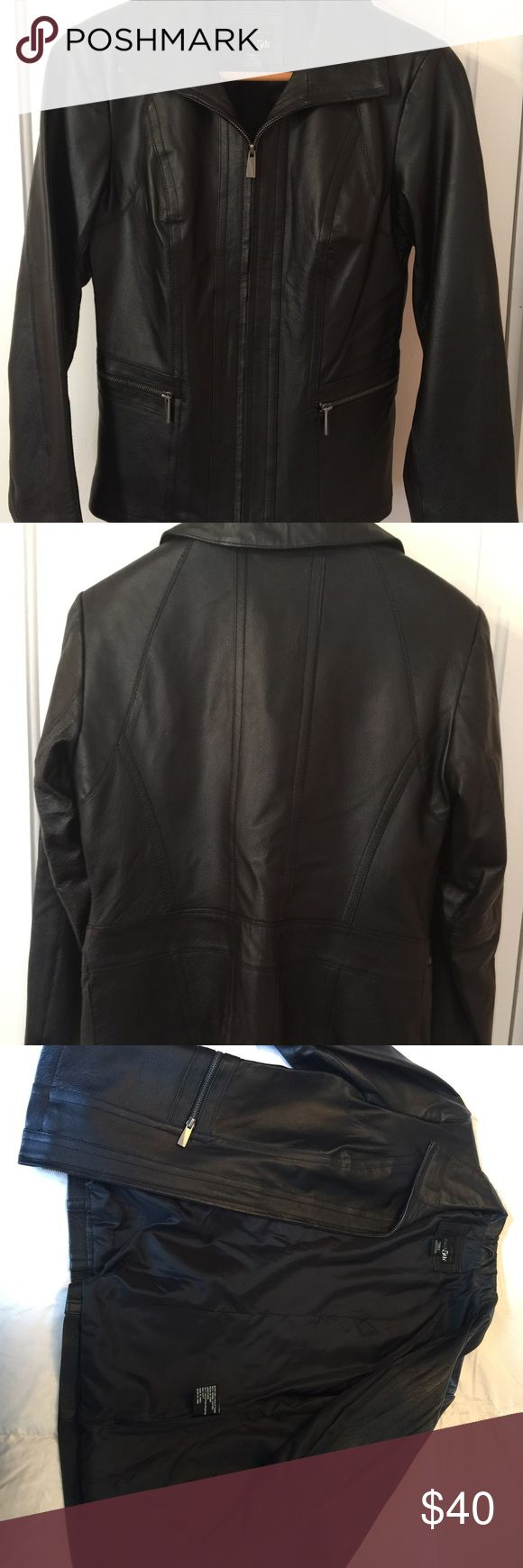 Ladies Leather Jacket Never worn, new w/o tags. 5th East Jackets & Coats
