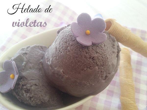 Helado de violetas ~ No sin mi taper