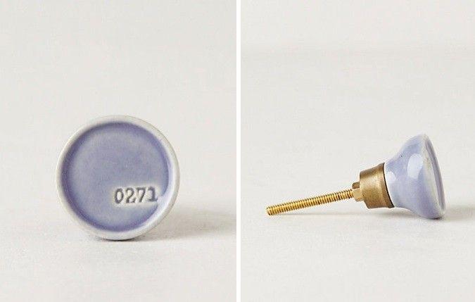 Color Code Knob Lavender Anthropologie Remodelista
