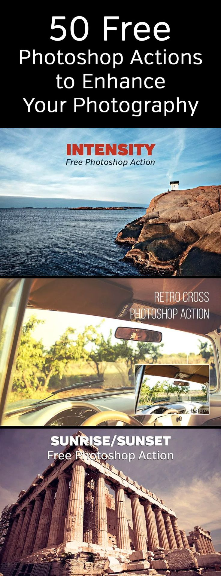 50 Free Photoshop Actions to Enhance Your Photography