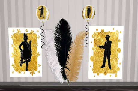 31 best images about roaring 20s party on pinterest for Decoration 1920