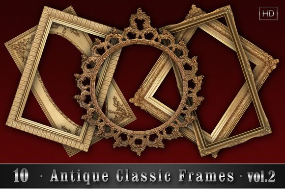 10 Antique Classic Frames vol.2 by Zver on @creativemarket