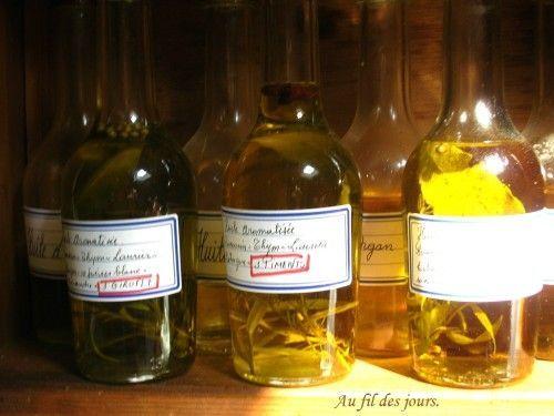 recette Huiles aromatisées par au fil des jours dans ma cuisine