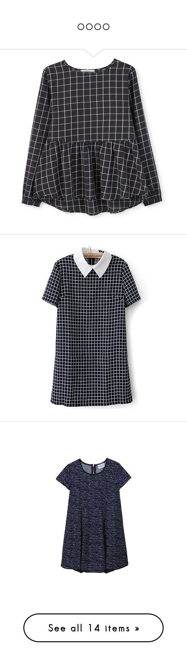 """""""oooo"""" by vani-624 ❤ liked on Polyvore featuring tops, blouses, shirts, blusas, camisetas, longsleeve shirt, long sleeve peplum shirt, round top, checkered shirt and shirts & blouses"""