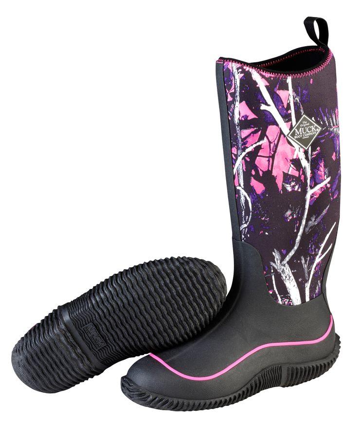 Muck Boots Hale- Ladies - Black Muddy Girl Camo