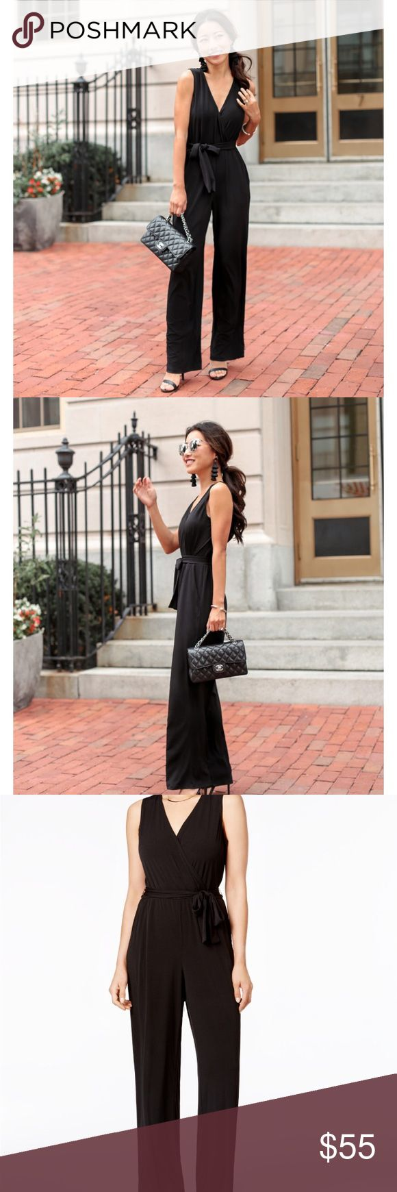 BNWT NY Collection black jumpsuit XS Pic courtesy of extrapetite.com. Brand new w tags ny collection jumpsuit in black. Perfect comfortable alternative to the little black dress. Very slimming when worn! NY Collection Pants Jumpsuits & Rompers