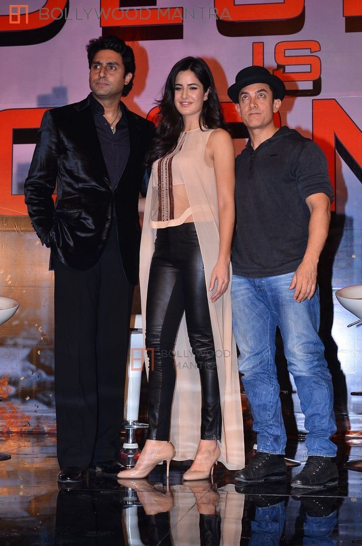 with Katrina and Abhishek at 'Dhoom 3' press conference