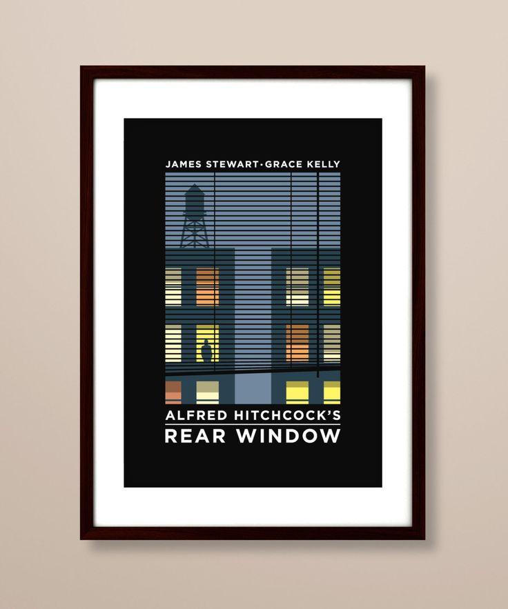 Rear Window poster, Rear Window poster print, Rear Window film poster, typographic print, Hitchcock poster, film poster, Alfred Hitchcock by TheIndoorType on Etsy https://www.etsy.com/listing/212541557/rear-window-poster-rear-window-poster