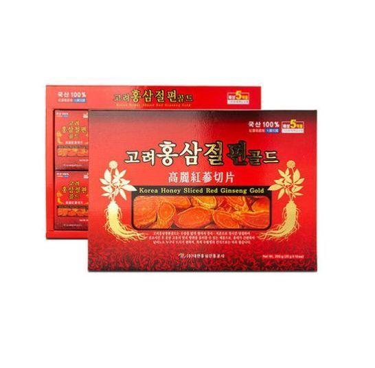 Korean Red Ginseng 6Years Gold Root Honey Sliced Panax 200g(20gx10Pack) Gift Set #DaehanRedGinsingPromotionCorporation