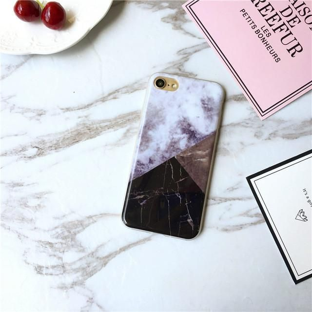 Buy 2 Get One Free Soft TPU Case for iphone 5s 5 SE 6 6s plus Granite Scrub Marble image Painted Phone Case For iphone 7 7plus