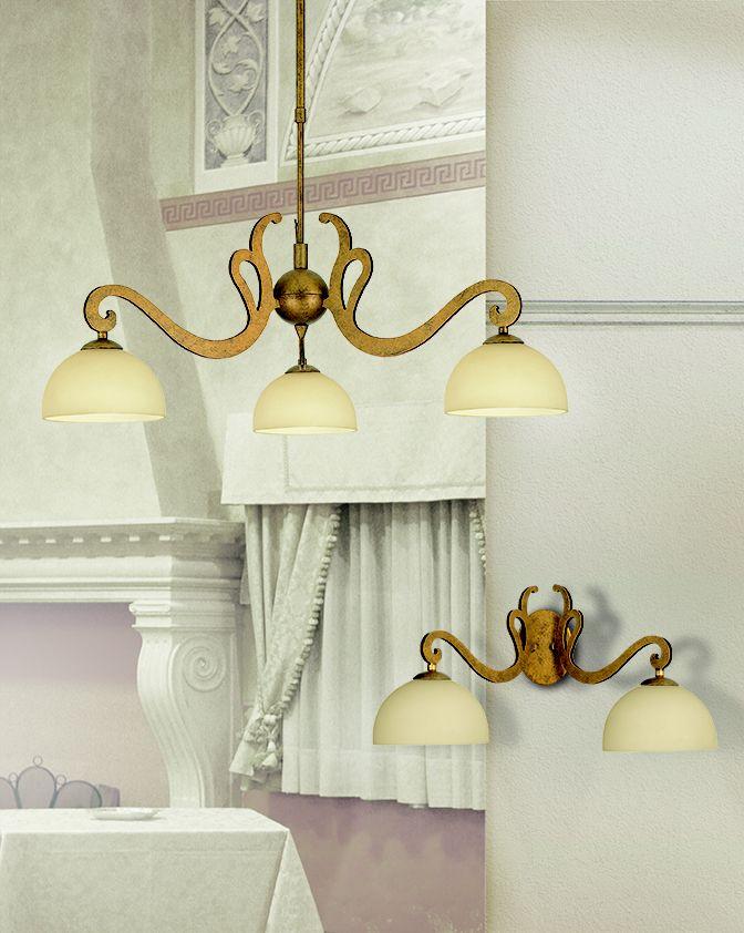 #Lampadario a sospensione e #lampada da parete. Scopri tutta la collezione qui --> http://www.lamexport.it/web/collections/?cat=vd