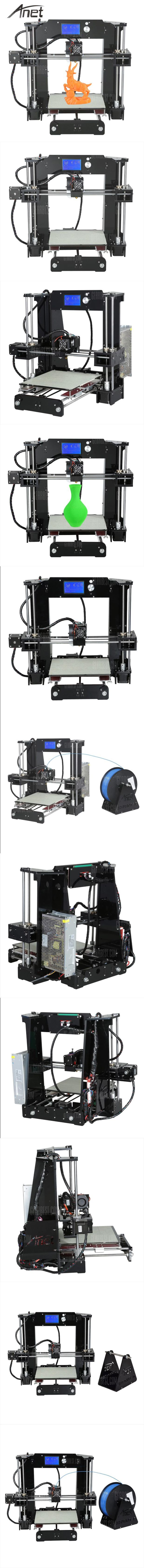 The Anet A6 3D desktop printer is a 3D printer with acrylic frame and single extruder. It features with 220 x 220 x 250mm build volume, 0.4mm nozzle diameter. To maintain the garage-built feel and the handmade charms, Anet A6 3D desktop printer is also a build-it-yourself kit, which provides you an unforgettable step-by-step learning experience of 3D printer!  #3Dprinter