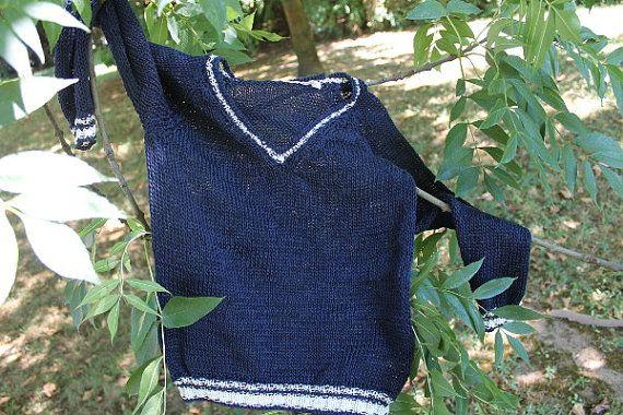 Maglia, maglione, Cardigan blu bambino, bimbo, neonato, fatto a mano, bimbi Made in Italy in cotone traspirante on Etsy, 48,00€