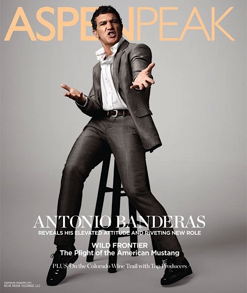 Antonio Banderas covers Aspen Peak Magazine Summer/Fall 2012