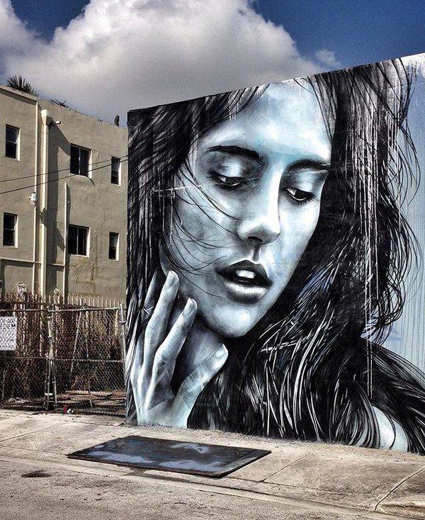 Wonderful Street Art by @StarFighterA in Wynwood Miami #art #mural #graffiti…