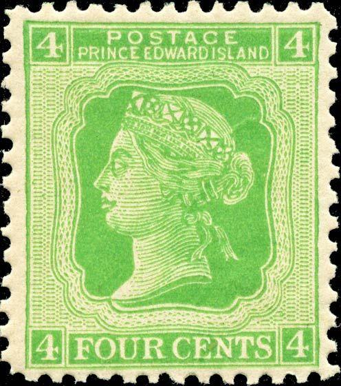 Prince Edward Island 1872. Queen Victoria. 4¢