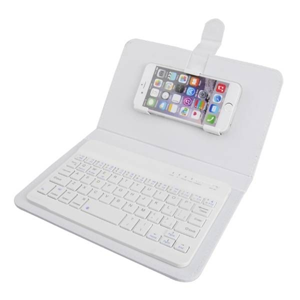 US Direct | Universal Wireless Bluetooth Keyboard Holster Flip PU Case Cover For Cellphone i