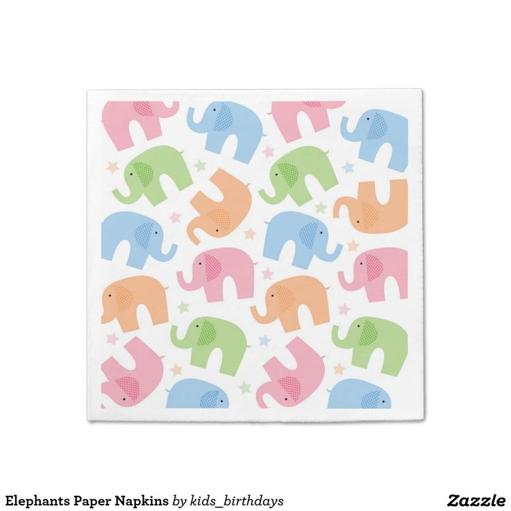 Elephants Paper Napkins  sc 1 st  Pinterest & 89 best Birthday Paper Napkins images on Pinterest | Cocktail ...
