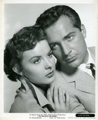 Jean Peters with Rossano Brazzi in Three Coins in the Fountain (1954): Peter O'Toole, Fountain 1954, Brazzi Three, Jeans, Movie, Three Coins In The Fountain, Peters Rossano