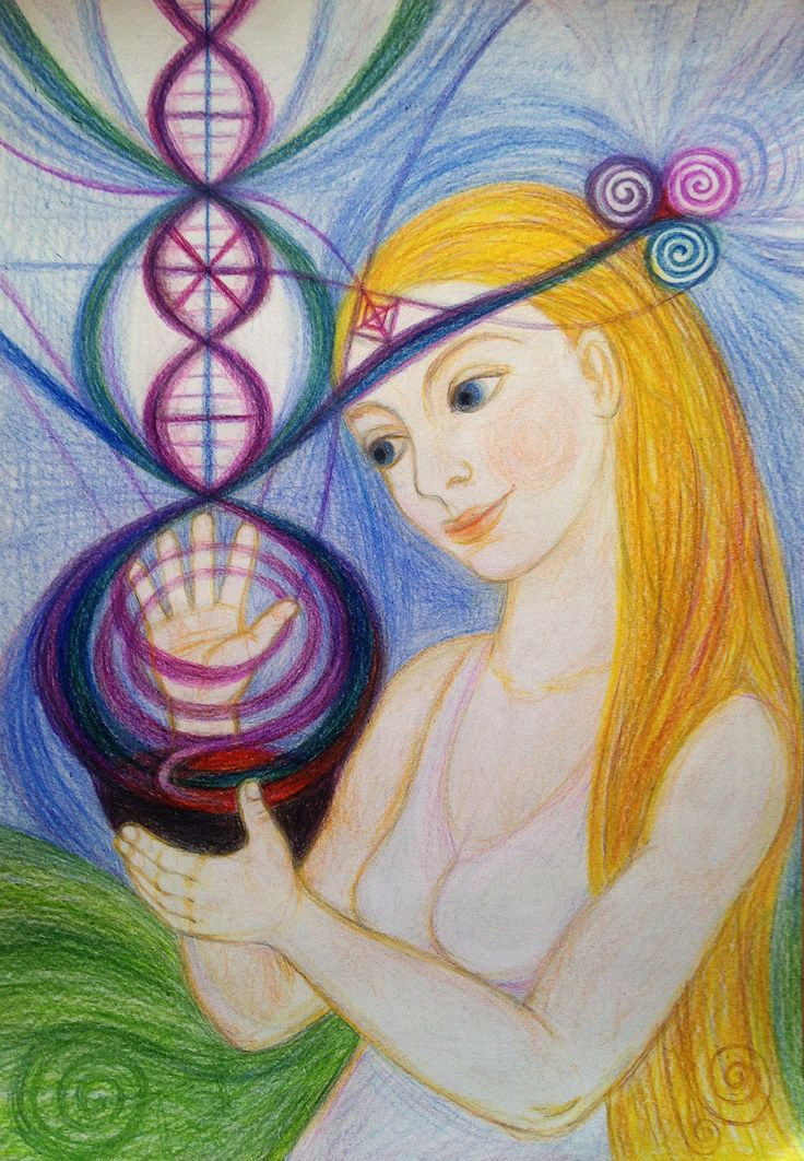 Priestess of Harmony by Ivana Axman #goddess #priestess #symbols #pagan #witch #visionaly #wicca