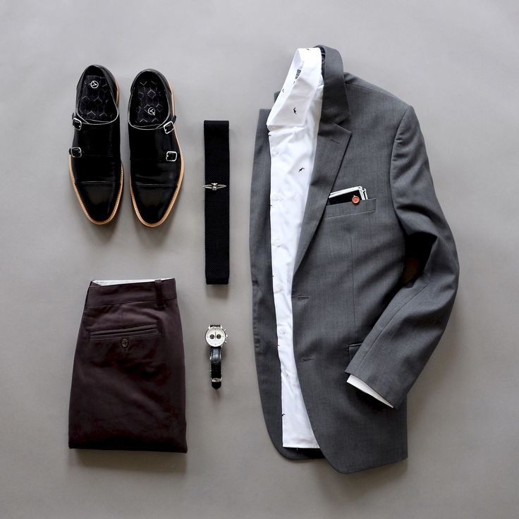Sunday's Best in monochrome. Muted tones are the rage these days which tends to open doors for monochromatic looks. Since today is going to be a rainy day this look will fit right in.  Knit Tie: @s_gents  Tie Clip: @sprezzanyc  Socks: @vybesocks  Double Monks Shoes: @blakemckay_  Chinos: @niftygenius  Blazer: Pronto Uomo via @menswearhouse Pocket Square: @grandfrank_official  Shirt: @grandfrank_official  Watch: @grandfrank_watches