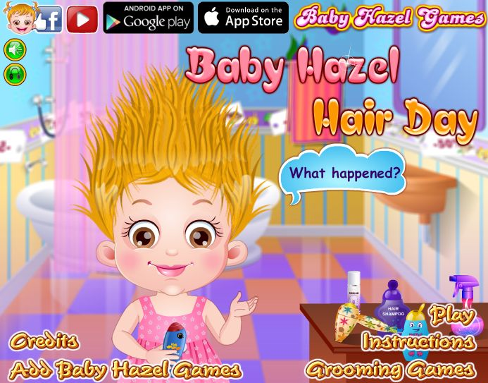 Play Baby Hazel Hair Day game to create amazing hairdo for Hazel and a lot more  http://www.babyhazelgames.com/games/baby-hazel-hair-day.html