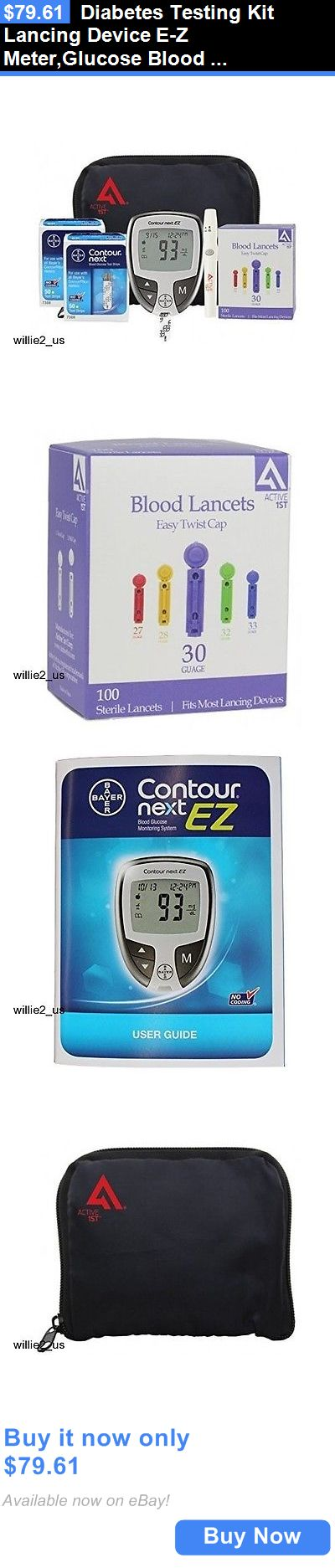 Monitoring Kits: Diabetes Testing Kit Lancing Device E-Z Meter,Glucose Blood Monitor New In Box!! BUY IT NOW ONLY: $79.61