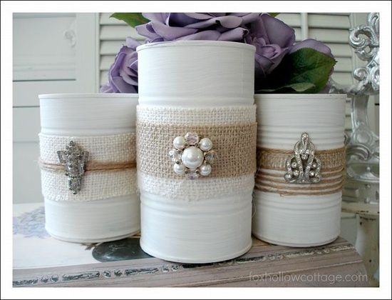 Pinterest Shabby Chic Crafts   Shabby Chic craft / tin cans