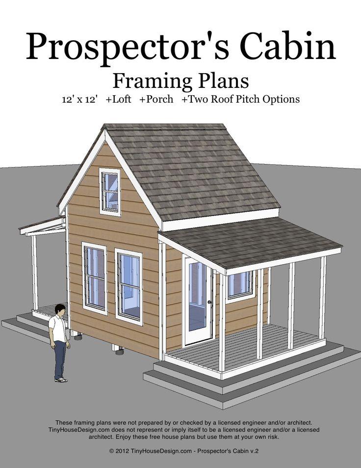 Prospector's Cabin v.2 12'x12′ Loft Front & Back Porch 8